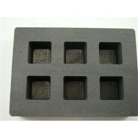 Graphite Sculpture (Make Your Own Gold Bars 2 oz X 6 Cube Molds-B107 High Density Graphite Cube Mold 2 oz Gold Bar 1 oz Silver 6 Cavities Copper)