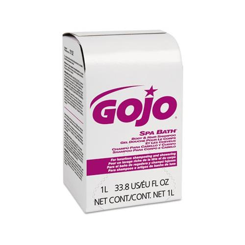 Gojo Spa Bath Body & Hair Shampoo, Herbal Scent, Rose Color, Nxt 1000 Ml ...