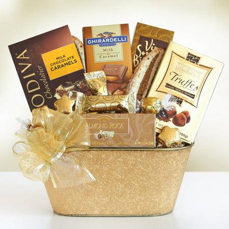 Holiday Gold Rush Chocolate Gift Basket