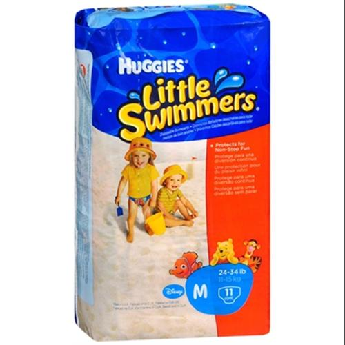 HUGGIES Little Swimmers Medium 24-34 LBS 11 Each [8 packs per case] (Pack of 6)