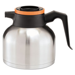 BUNN 1.9 Liter Thermal Carafe, Stainless Steel/ Black and Orange (Decaf) -BUNTHERMORN