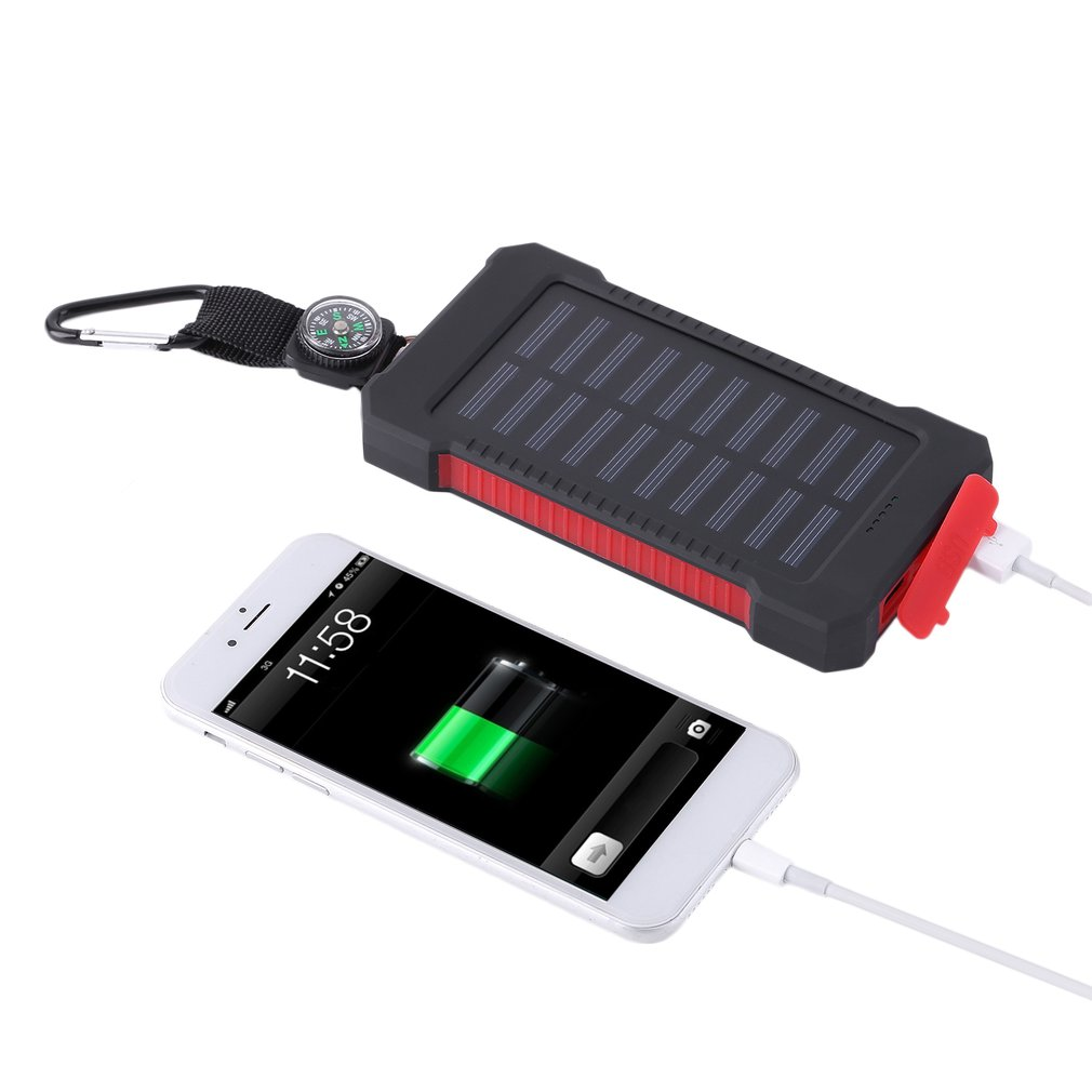 300000mAh Solar Battery Charger for Cell phones Dual USB Solar Power Bank for Mobile Power Bank by Cimiva
