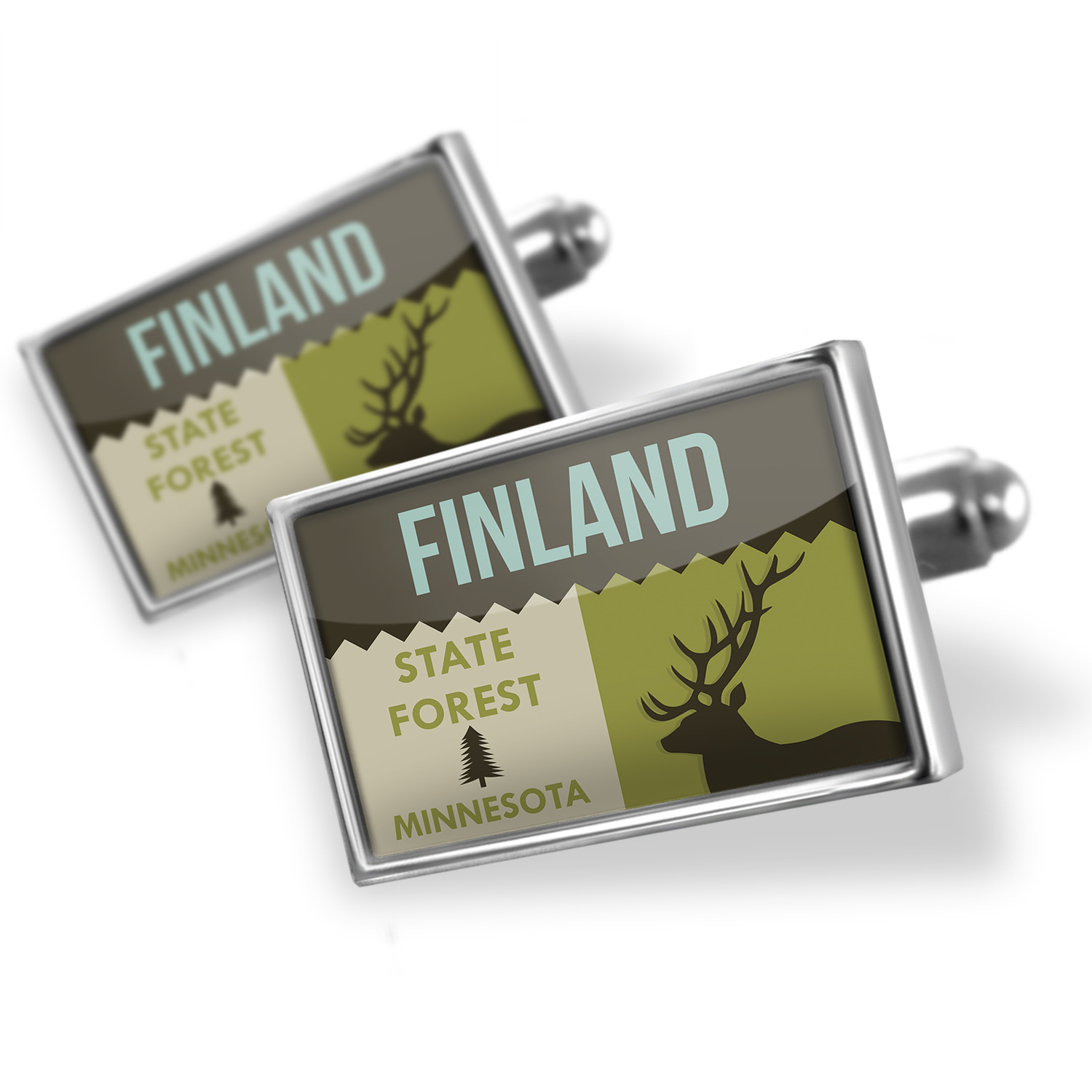 Cufflinks National US Forest Finland State Forest - NEONBLOND