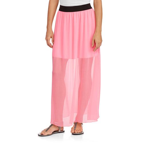 no boundaries juniors elastc waist maxi skirt walmart