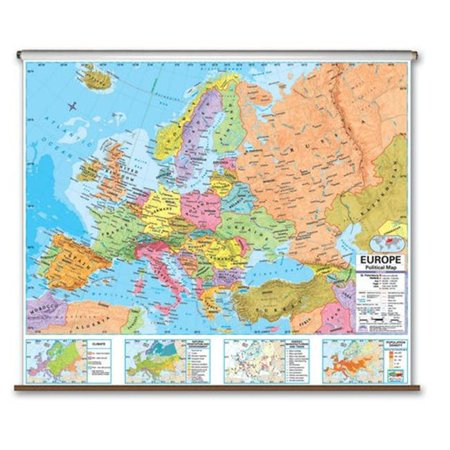 Universal Map 27942 Europe Advanced Political Wall Map   Backboard