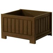 17 in. Eco-friendly Planter Box (Brown)