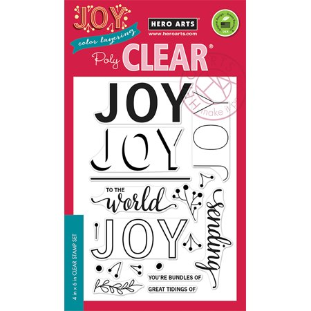 """Hero Arts Clear Stamps 4""""X6"""" Color Layering Joy Message"""