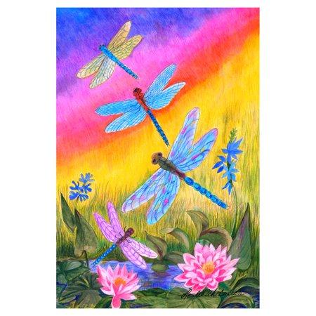 Toland Home Garden Dusk Dragonflies Flag - Graduation Garden Flag