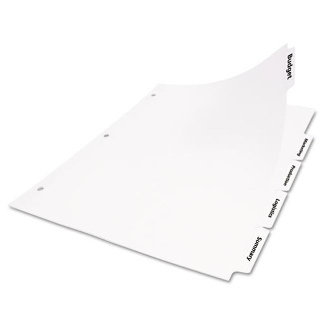 Avery 11338 Index Dividers With White Labels, 5-Tab