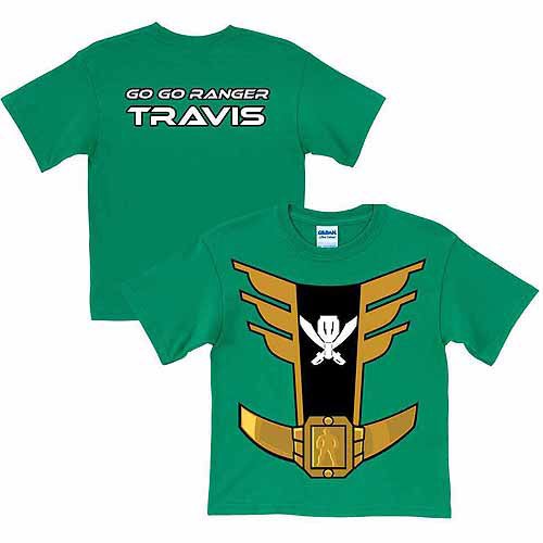Personalized Power Rangers Green Ranger Boy's Green T-Shirt