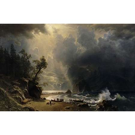 1870 Poster (Puget Sound of the Pacific Coast 1870 Poster Print by Albert)