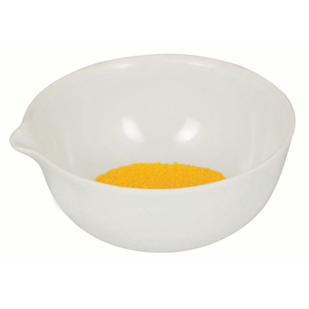 175mL capacity, Round Evaporating Dish with Spout  - Porcelain - 4.1