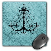 3dRose Chandelier on Vintage Background, Mouse Pad, 8 by 8 inches