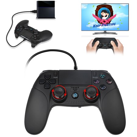 Controller for PS4, EEEkit Wireless/Wired Controller for Playstation 4 PS4 Gamepad Controller for Playstation 4 Game Console, Support Playstation 4, PS3, PC(Black)