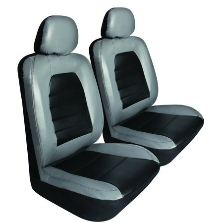 Auto Seat Cover, Sport Grey Leather Universal Car Corolla Seat Covers, Set Of 2