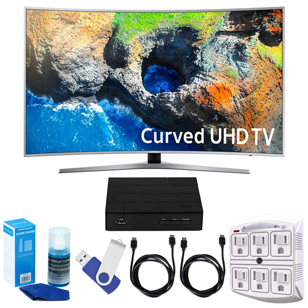 "Samsung UN49MU7500 48.5"" Curved 4K Ultra HD Smart LED TV (2017 Model) Plus"