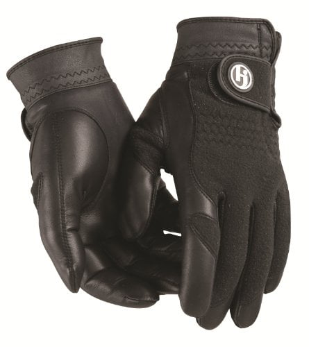 HJ Winter Gloves, Mens XL, Pair of Fleece & Leather, Cabretta Leather Palm, by HJ Glove