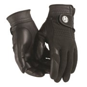 HJ Winter Gloves, Mens MEDIUM, Pair of Fleece/Leather, Cabretta Leather Palm
