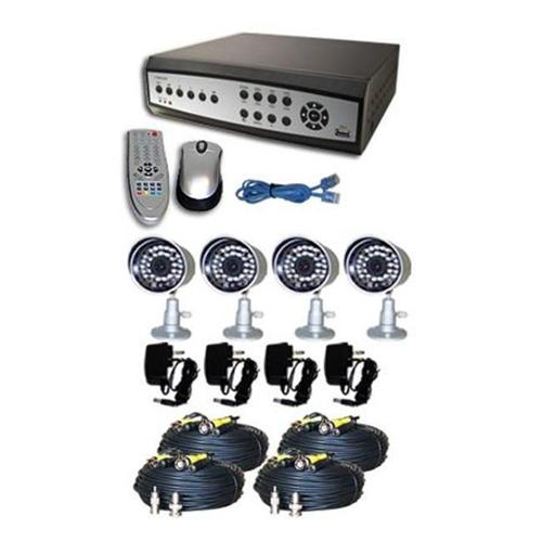 NuMedia A-BR2B4-A 4-Channel Surveillance DVR Combo Kit