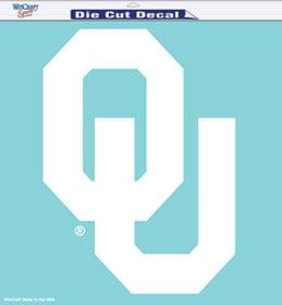 "Oklahoma Sooners Die-Cut Decal - 8""x8"" White"