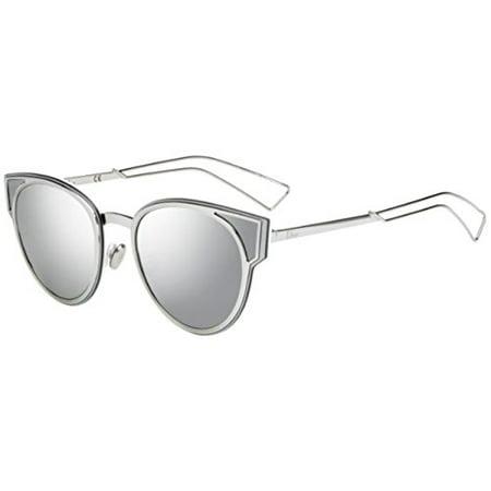 6b4fa43db4e Dior Sculpt S 010 DC Palladium Metal Cat-Eye Sunglasses Silver Mirror Lens  - Walmart.com
