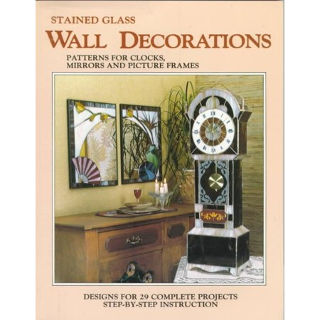 Stained Glass Wall Decorations Patterns For Clocks Mirrors And