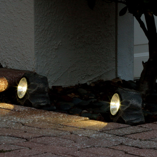 Smart Solar Rock Light