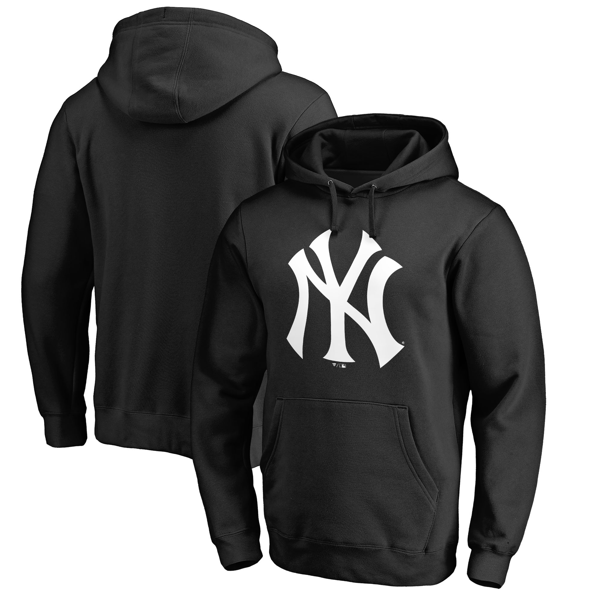 New York Yankees Fanatics Branded Primary Logo Pullover Hoodie - Black