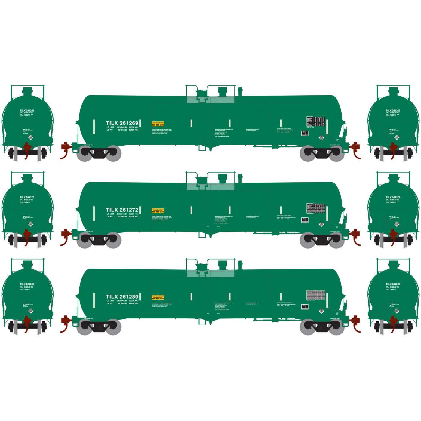 Athearn HO RTR 30,000 Gal Ethanol Tank TILX Green #3 (3), ATH28258