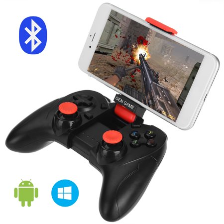 ALLCACA Bluetooth Game Controller Wireless Gamepad Rechargeable Phone Controller with Vibrating Function, Compatible with Android, Tablet, TV, TV Box, VR