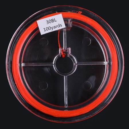 100 Yard Braided Fly Fishing Line 20LB Extension Fishing Line Spare Line Backing Line Colour:orange