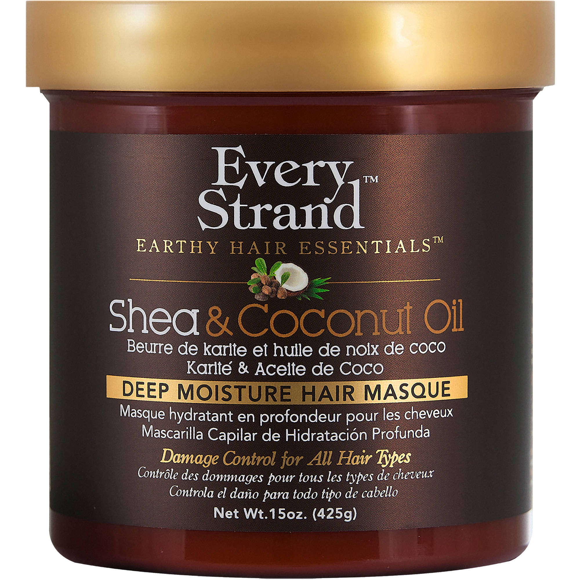 Every Strand Shea & Coconut Oil Deep Moisture Hair Masque, 15 oz