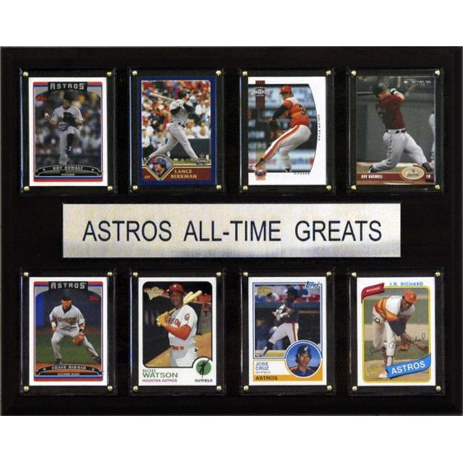 C & I Collectables 1215ATGAST MLB Houston Astros All-Time Greats Plaque