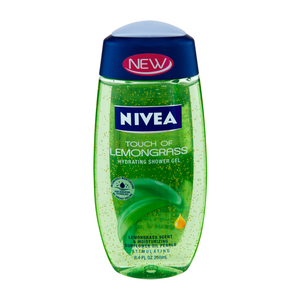 NIVEA Touch of Lemongrass Hydrating Shower Gel, 8.4 fl oz