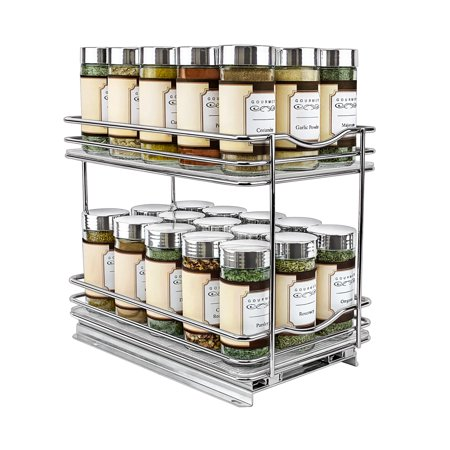 Lynk Professional® Slide Out Spice Rack Double - 6-inch Wide ()