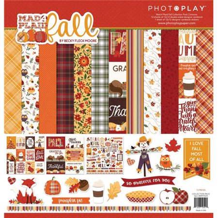 Photo Play M4P Fall Collection Pack 12x12 12x12 Page Layout Scrapbook