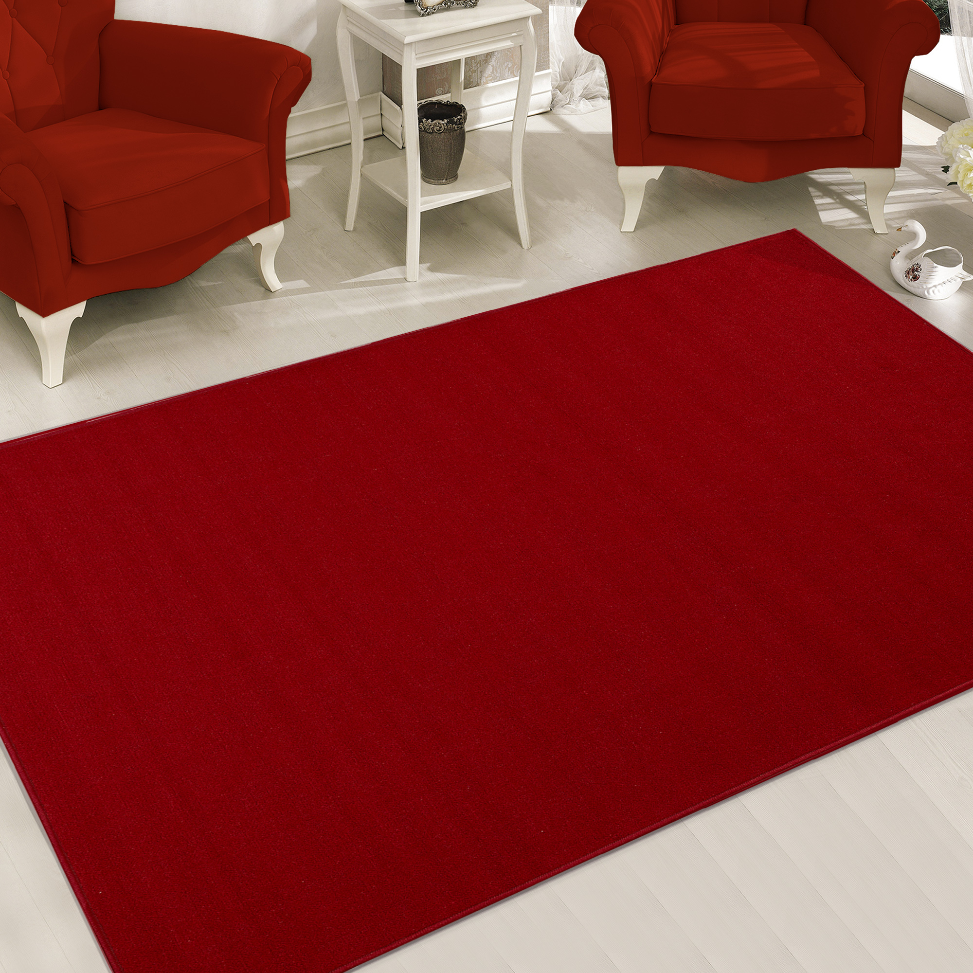 Sweet Home Stores Clifton Collection Solid Design Living and Bedroom Area Rugs, 5' x 6'6""