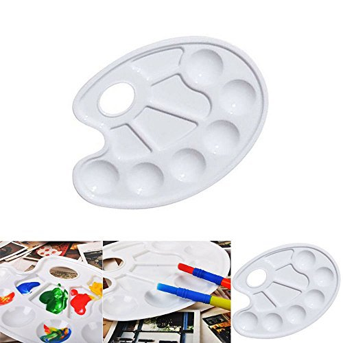 New Artist Watercolor Plastic Palette Tray Art Paint Necessity White 10 Wells