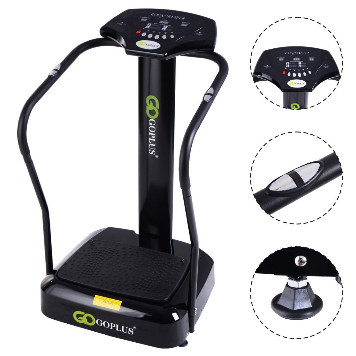 Goplus 2500W Crazy Fit Whole Body Vibration Platform Exercise Machine Massage Massager