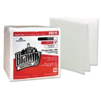 Brawny Industrial Medium Duty All Purpose Wipers, White, 50 sheets, 16 count