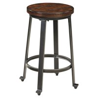 Signature Design by Ashley Challiman Stool, Rustic Brown, Set of 2
