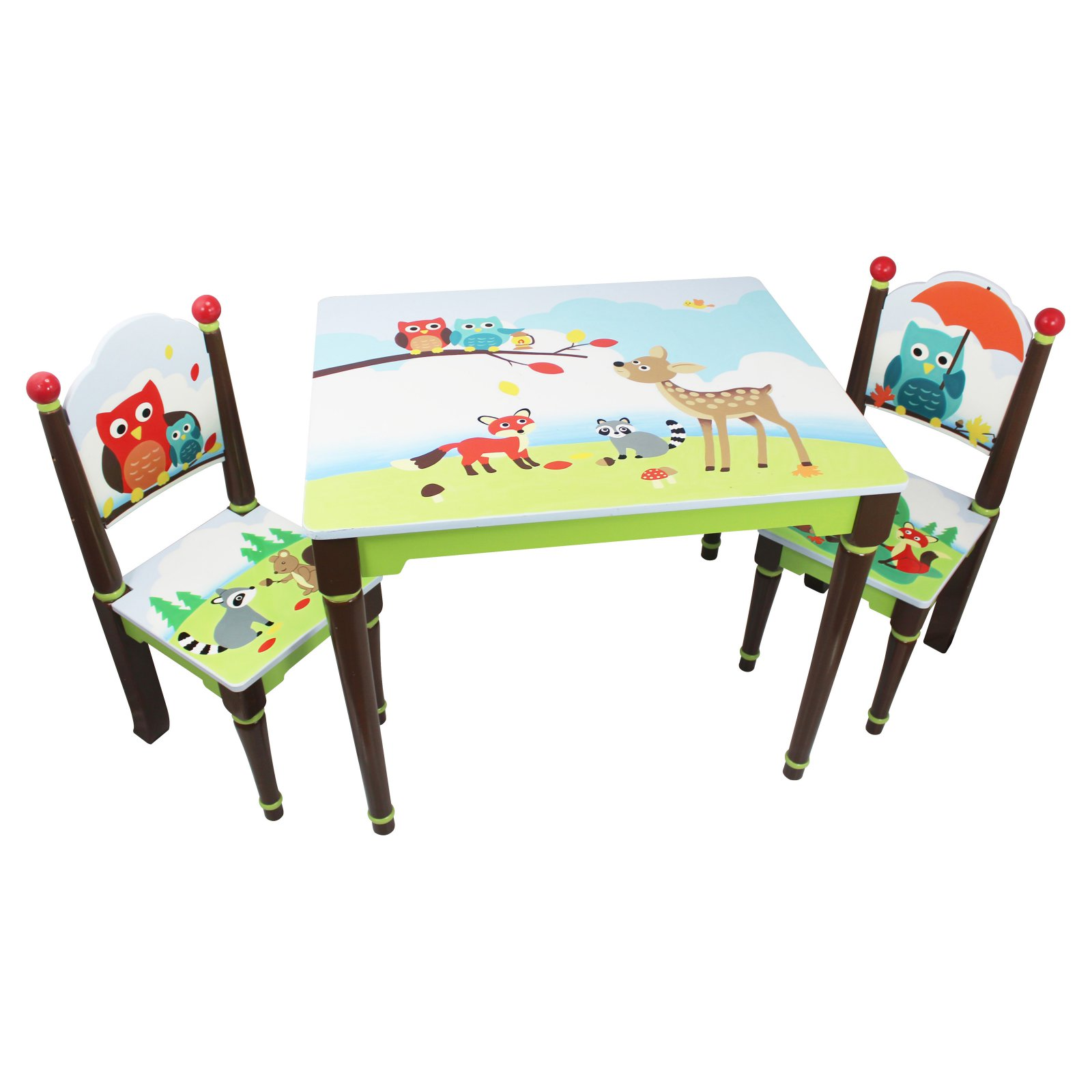 Fantasy Fields- Enchanted Woodland Table & Set of 2 Chairs by Teamson Design