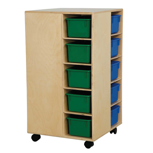 Wood Designs Space Saver 20 Compartment Cubby with Casters