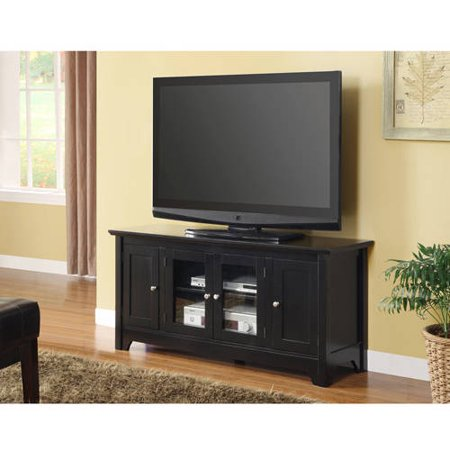52″ Black Wood TV Stand for TVs up to 55″, Muliple Colors