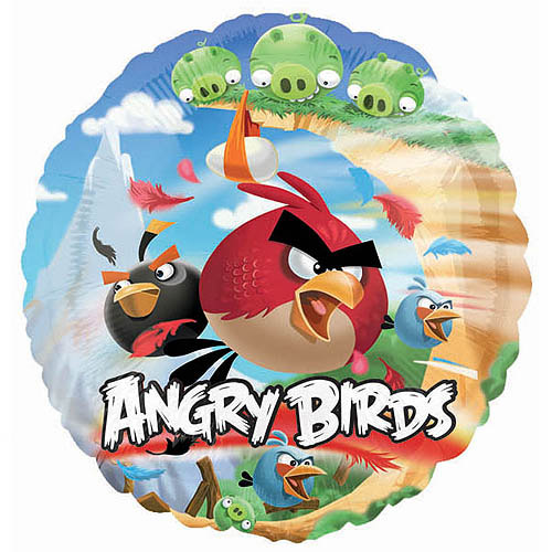 Round Angry Birds Balloon (each) - Party Supplies
