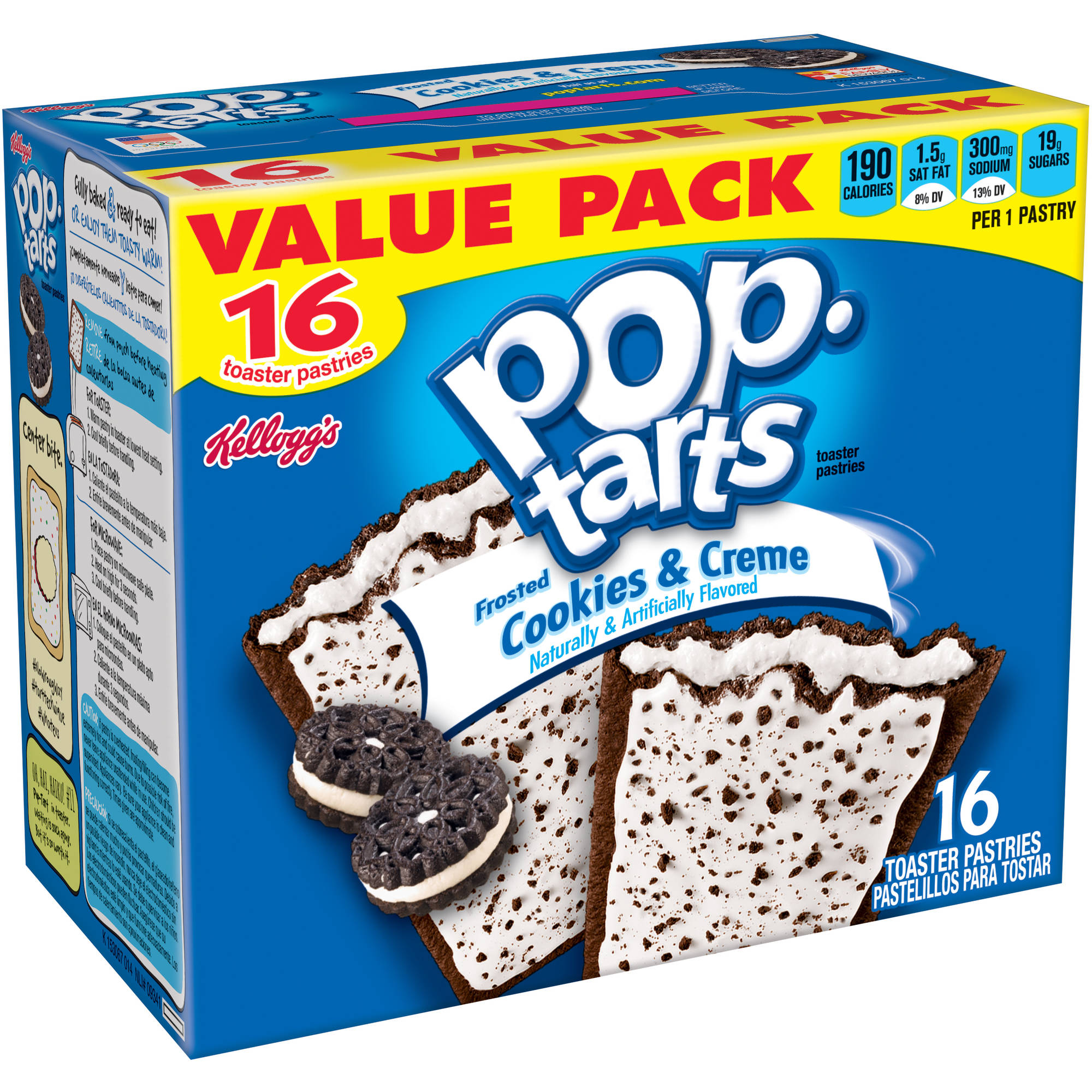 Kellogg's Frosted Cookies & Creme Pop-Tarts, 16 ct