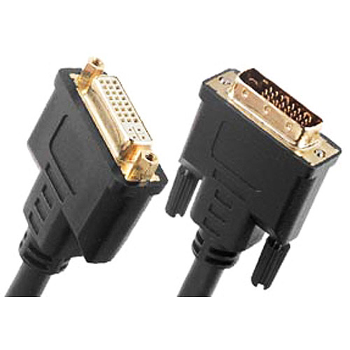 Link Depot 6' Gold Plated DVI-D Extension Cable Male to Female