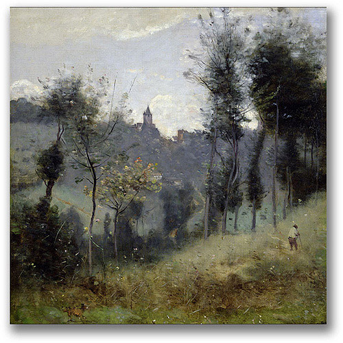 "Trademark Fine Art ""Canteleu Near Rouen"" Canvas Wall Art by Jean Baptiste Corot"