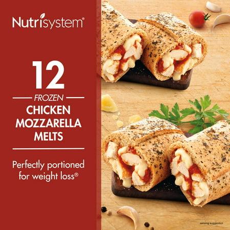 Nutrisystem Frozen Chicken Mozzarella Lunch Melt, 3.8 oz, 12 Ct