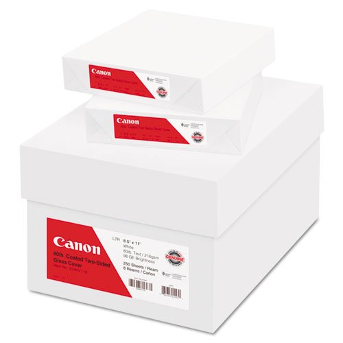 "Canon Coated Two-sided Gloss Cover Paper - Letter - 8.5"" ..."